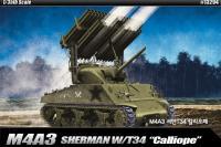 """Танк M4A3 Sherman ракетной установкой T34 """"Calliope"""""""