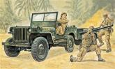 Автомобиль Willys MB Jeep с прицепом
