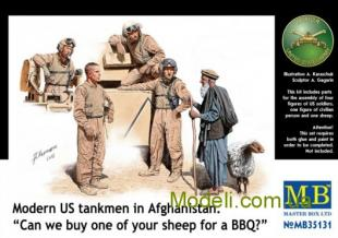 "Modern US tankmen in Afghanistan. ""Can we buy one of your sheep for a BBQ?"